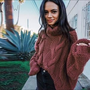 GEORGETTE Cable Knit Sweater